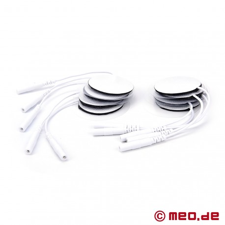 10 pack of round electrodes for penis, ass and balls