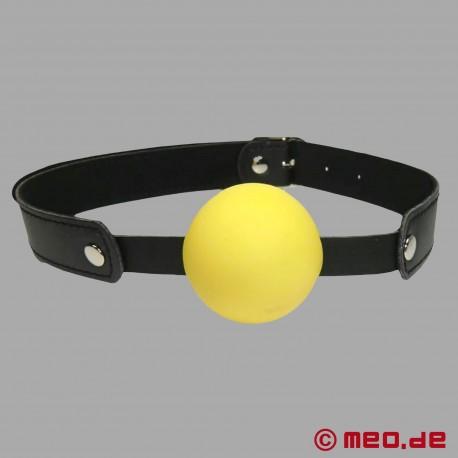 Mundknebel mit Ball - Ballknebel in gelb