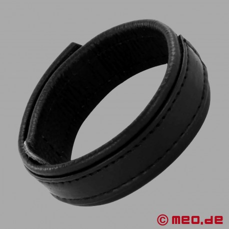 CAZZOMEO leather cock ring with Velcro fastener