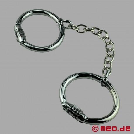 Manette in acciaio con serratura a combinazione