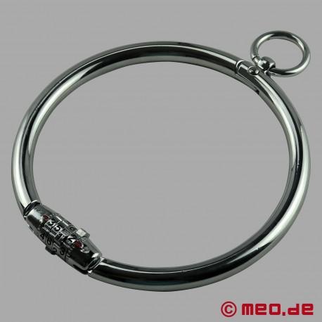 Collier avec cadenas à chiffres et anneau en O