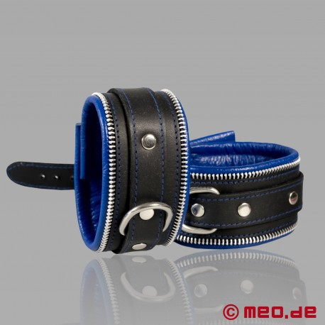 Entraves de bondage pour chevilles Code Z noir/bleu