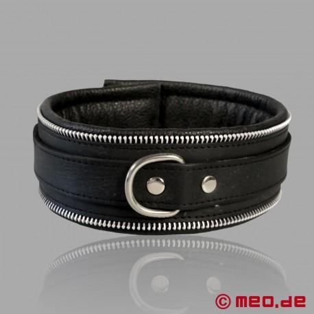 Cinturino per il collo in pelle BDSM nero