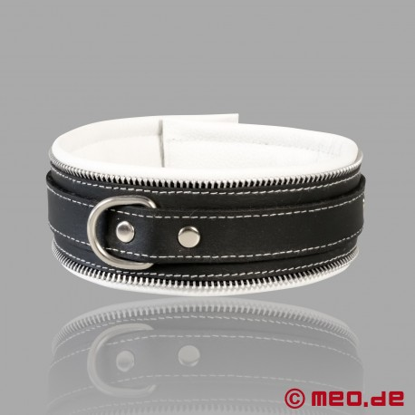 Code Z Bondage Halsband schwarz/weiß