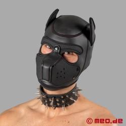 Collare nero con borchie appuntite per Human Pup