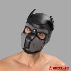 Bad Puppy - maschera da cane in neoprene - nero/grigio