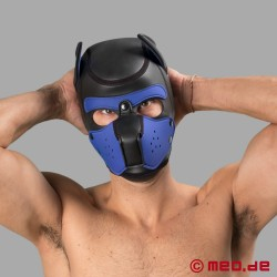 Bad Puppy - maschera da cane in neoprene - nero/blu