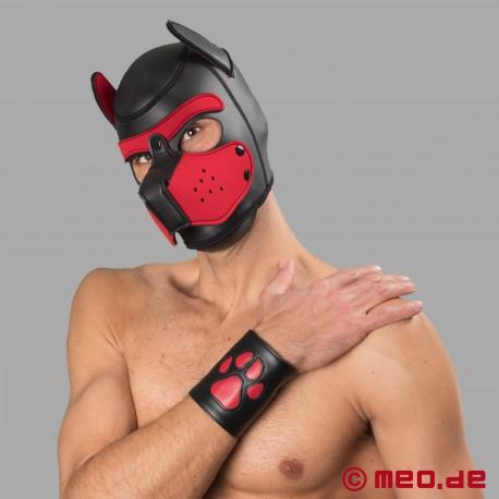 Bad Puppy - Hundemaske aus Neopren - schwarz/rot