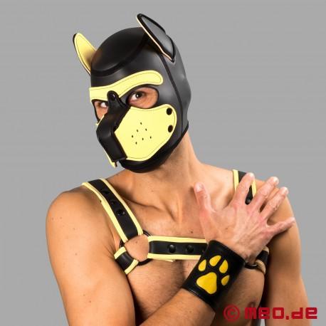 Puppy Stulpe aus Leder mit gelber Pfote - Leather Paw Puppy Gauntlet