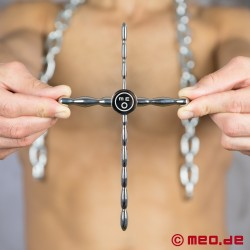 Penis Plug à 4 orientations – THE CROSS – Dispositif de 4 dilatateurs péniens