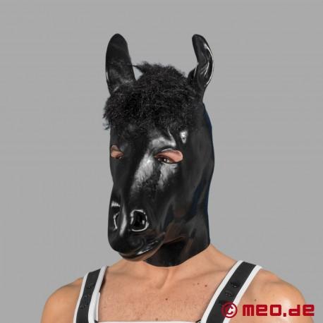 Pferdemaske aus Latex für das menschliche Pony