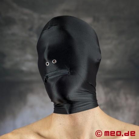 Spandex Maske mit Nasenlöchern und Mund-Reißverschluss