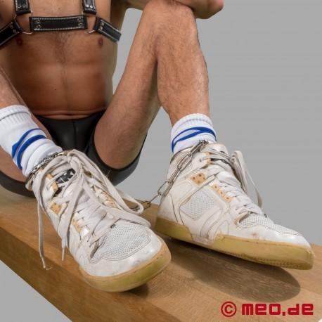 Manette per le caviglie in acciaio con serratura a combinazione
