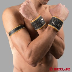 Bondage Wrist Cuffs black/yellow Code Z