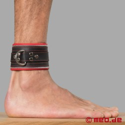 Code Z Bondage Ankle Cuffs black/red