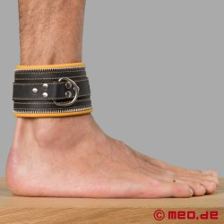 Bondage Ankle Cuffs black/yellow Code Z