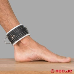 Bondage Ankle Cuffs black/white Code Z