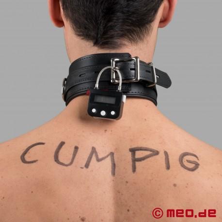 Collier de self bondage avec cadenas à minuterie