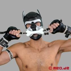Bad Puppy Mundknebel – weißer Hundeknochen Knebel