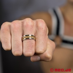 MEO Chaîne d'amour Fingerring in silber-gold