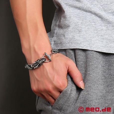 Bracelet en inox – Tête de dragon