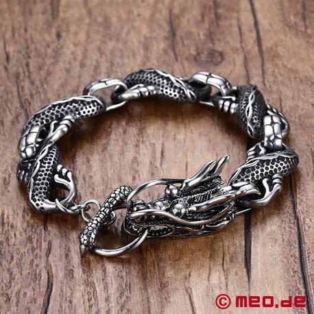 Armband aus Edelstahl - Drachenkopf