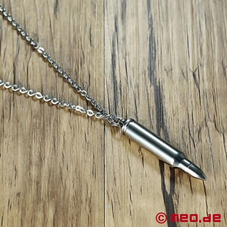 Bullet necklace with secret compartment - Bullet necklace