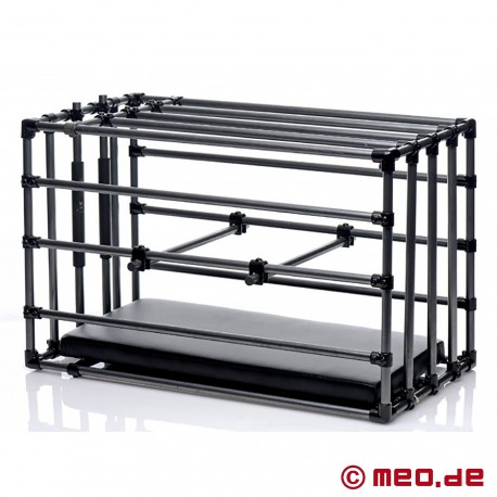 Adjustable slave cage with padded board