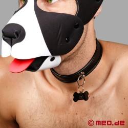 Collare da schiavo - Collare fine da cucciolo in pelle nera