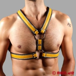 Code Z Berlin Bondage Harness black/yellow