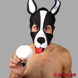 Bad Puppy Buttplug Pompon – weiß