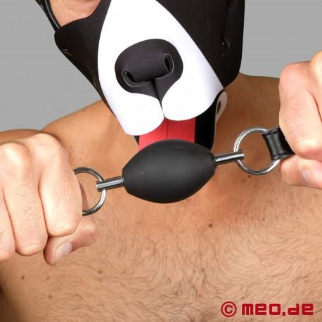 BDSM Gag in black - Oval Ball Gag