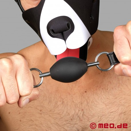 Bondage Mundknebel in schwarz – Ovaler Ballknebel