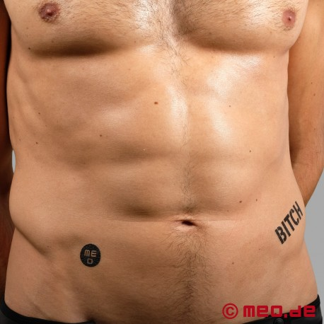 Temporäre BDSM Bondage Tattoos
