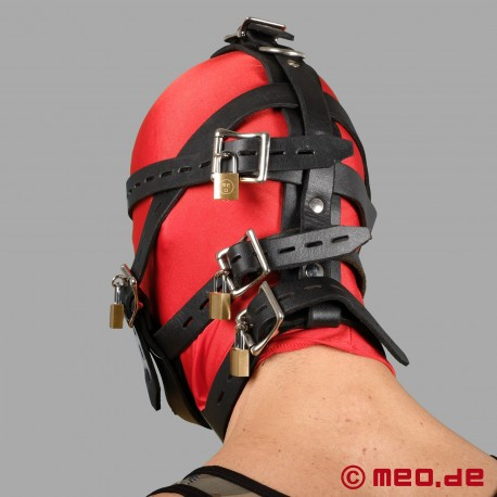 Abschließbares Kopfgeschirr mit Maulkorb