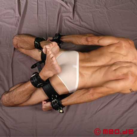 Heavy Leather Hogtie Kit - The ultimate hogtie bondage set made of sturdy leather