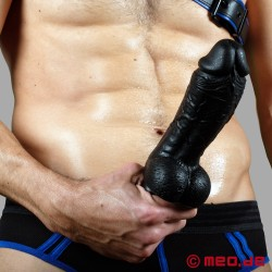 Gode noir Real Stallion de 20 cm de long