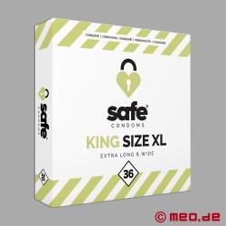 Safe - King Size XL Condoms - Box with 36 condoms