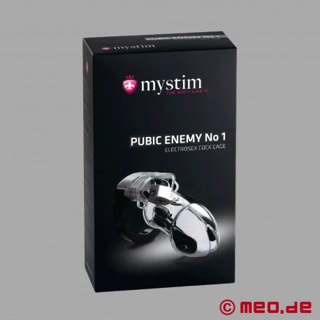 PUBIC ENEMY NO 1 – Peniskäfig – Keuschheitsgürtel mit E-Stim