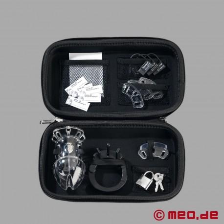 PUBIC ENEMY NO 2 - Cintura di castità / Gabbia per pene con elettrostimolazione