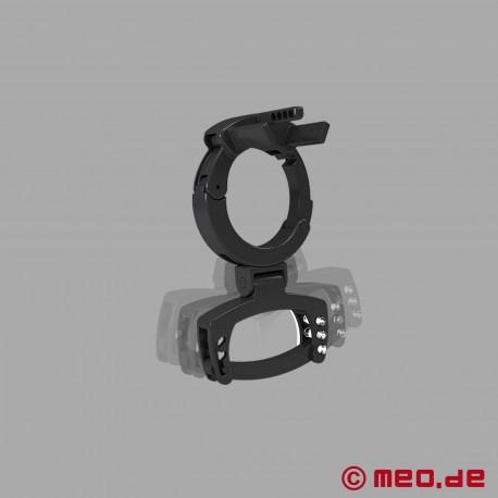 PUBIC ENEMY NO 3 – Ceinture de chasteté E-Stim avec un presse-testicules