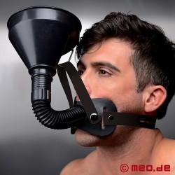 LATRINO BOY - Kopf Harness mit Mundknebel & Trichter
