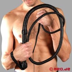 Frusta Target Whip in cuoio con manico rigido