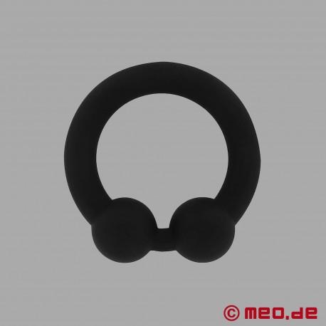 The Bullring - anello per il pene in silicone nero per un'erezione ancora più dura