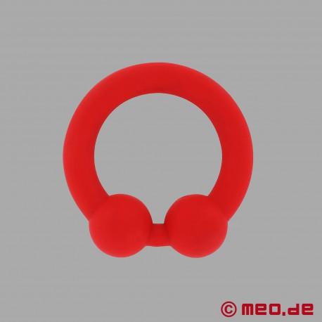 The Bullring - anello per il pene in silicone rosso per un'erezione ancora più dura