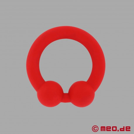The Bullring – Red Silicone Cockring