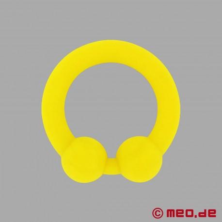 The Bullring - anello per il pene in silicone giallo per un'erezione ancora più dura