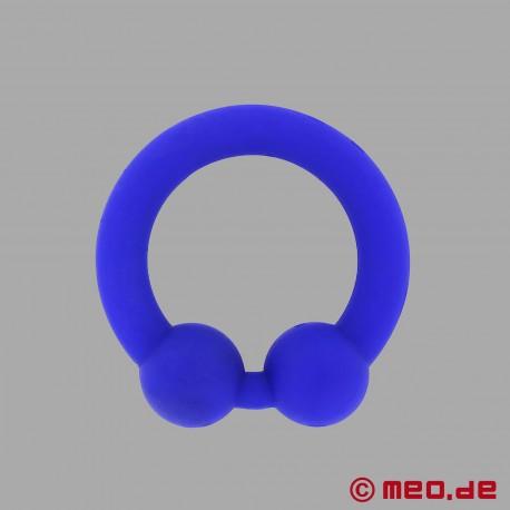 The Bullring - anello per il pene in silicone blu per un'erezione ancora più dura