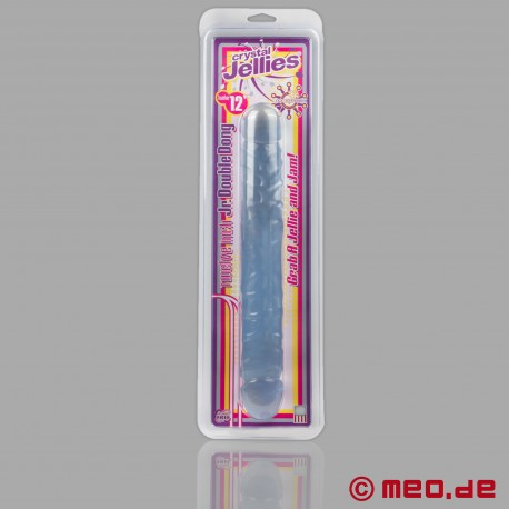 Dildo doppio Crystal Jellies - Jr. Double Dong 12 inches