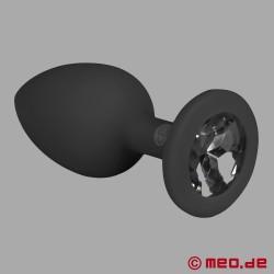 Anal Plug mit Kristall - Diamant Butt Plug – kleiner Analplug für Anfänger